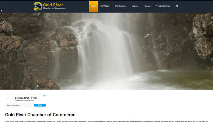 gold river chamber of commerce web design